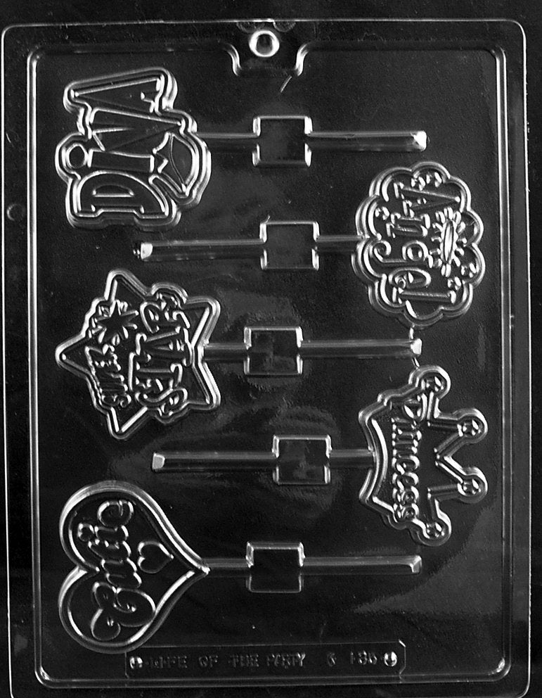 Girly Pops (Diva, Princess, Angel)  Lolly Mould
