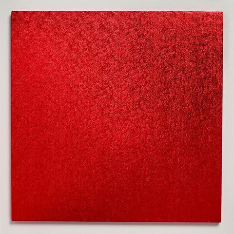 12'' (304mm) Cake Board Square Red - Bakeworld.ie