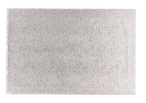 30'' x 18'' (762 x 457mm) Cake Board Oblong Silver Fern - Bakeworld.ie