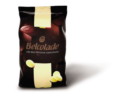 15kg Belcolade Belgian White Chocolate 28% - Bakeworld.ie