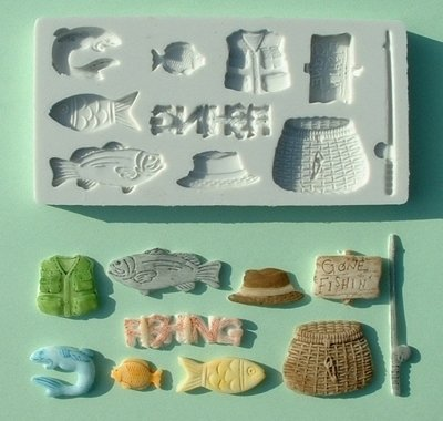Alphabet Moulds - Gone fishing - Bakeworld.ie