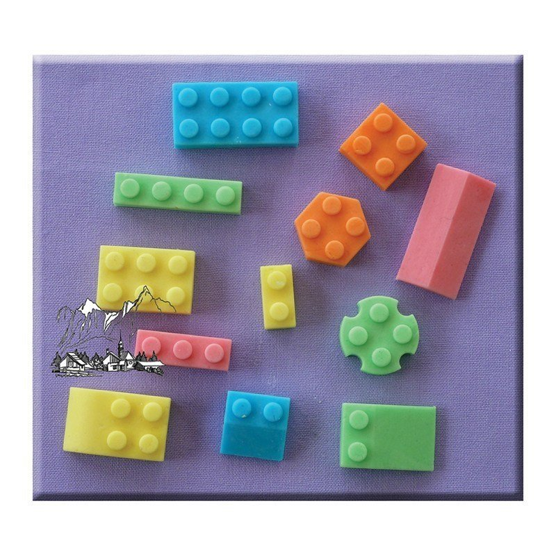 Alphabet Moulds - Building Bricks - Bakeworld.ie