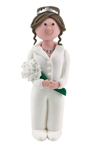 Claydough Brunette Haired Bride 120mm - Bakeworld.ie