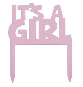 It's a Girl Cake Topper 10cm