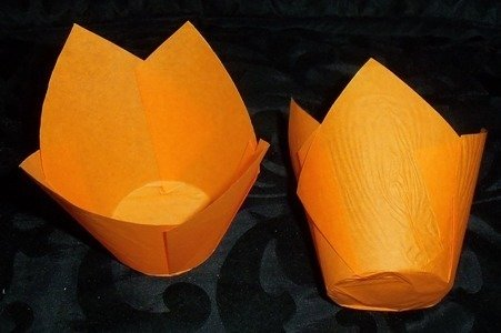 Orange Tissue Muffin Case 150pk