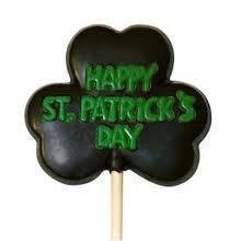 HAPPY ST. PATRICKS DAY CLOVER Lolly mould