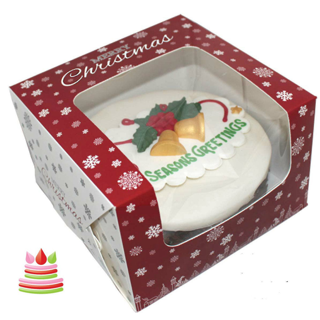"Christmas Cake box 8""x 8""x 4"" - Bakeworld.ie"