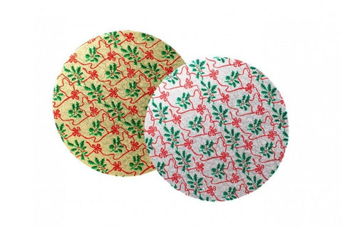 12'' Xmas Round Turn Edge Cake Cards (3mm) - Bakeworld.ie