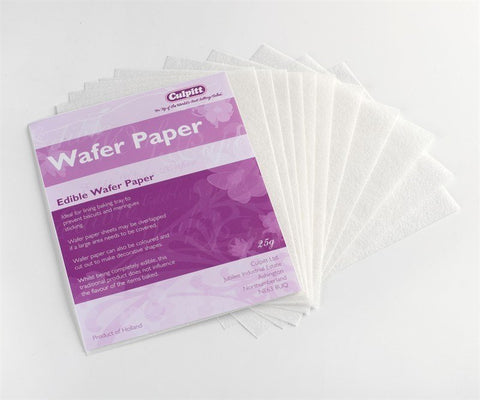 12 Wafer Sheets - 178 x 142mm - Bakeworld.ie