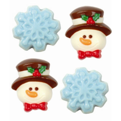Snowman\Snow Flake Mini Topper Mould