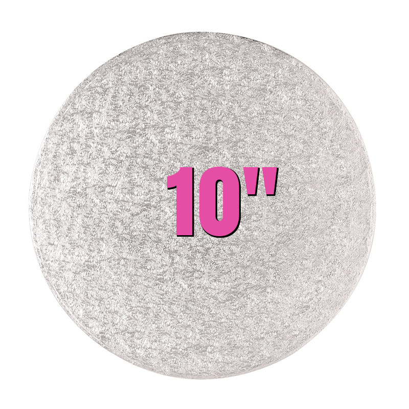 "10"" Round Silver Cake Drums - Bakeworld.ie"