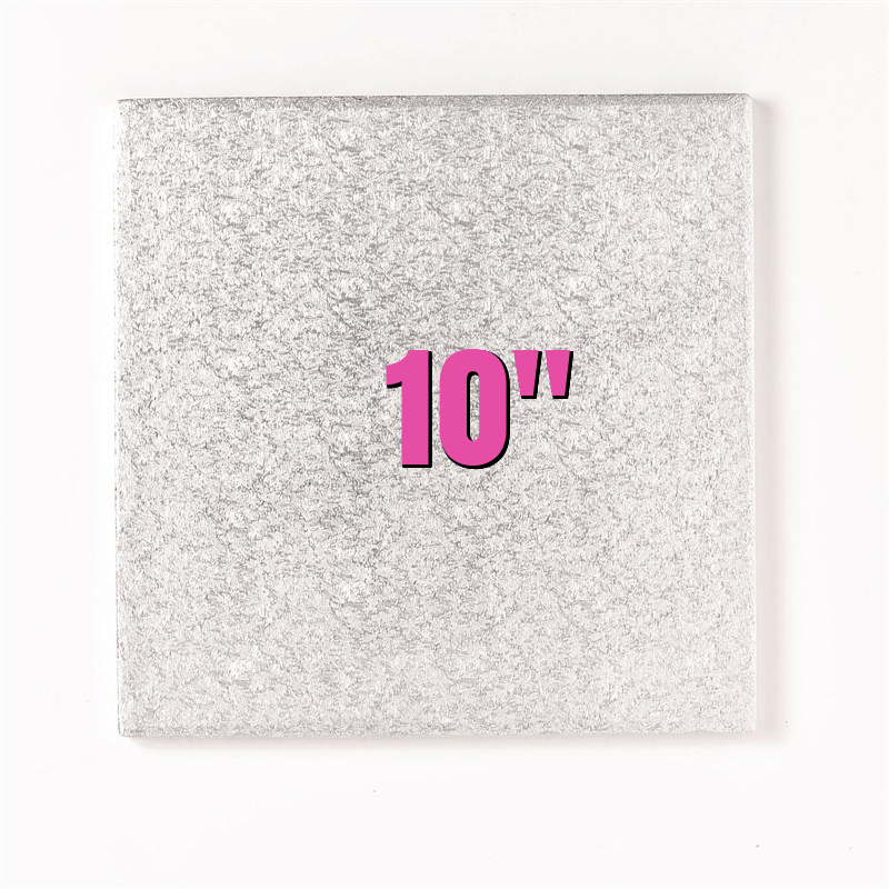 10'' Square Turn Edge Cake Cards (1.75mm) - Bakeworld.ie
