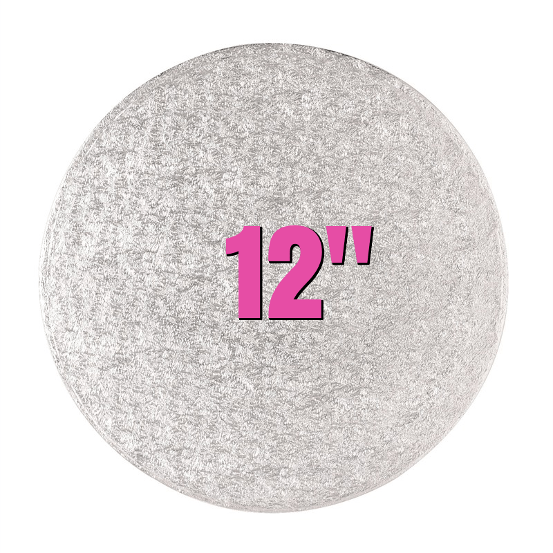 "12"" Round Silver Cake Drums - Bakeworld.ie"