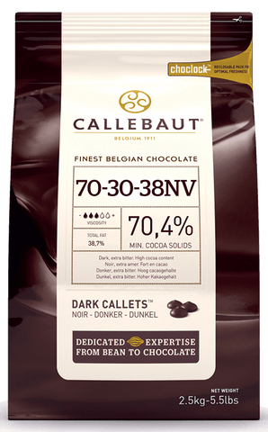 Belgian Callebaut Dark Chocolate 70% 10 kg - Bakeworld.ie