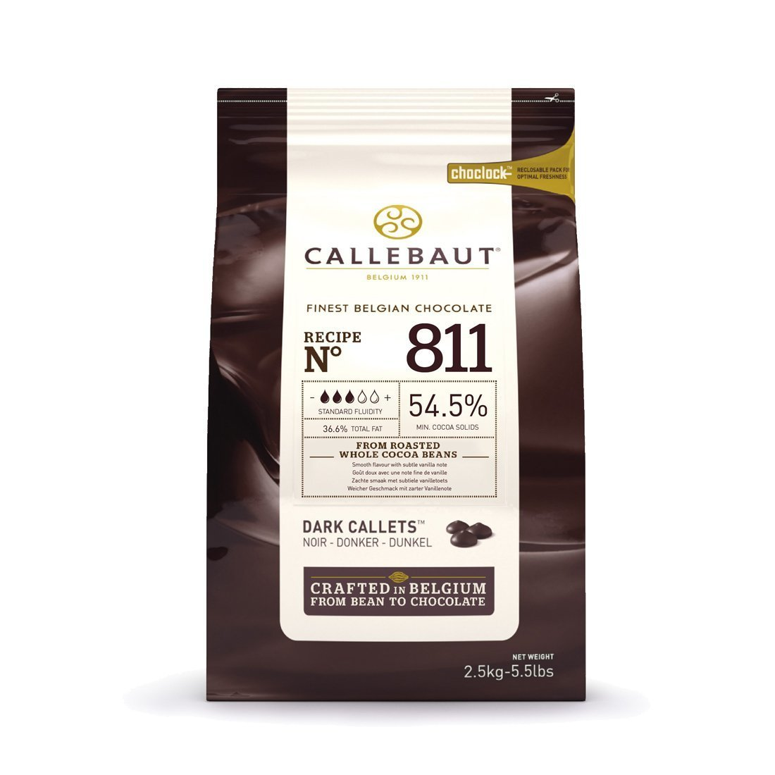 Belgian Callebaut Dark Chocolate 54.5% 2.5kg - Bakeworld.ie