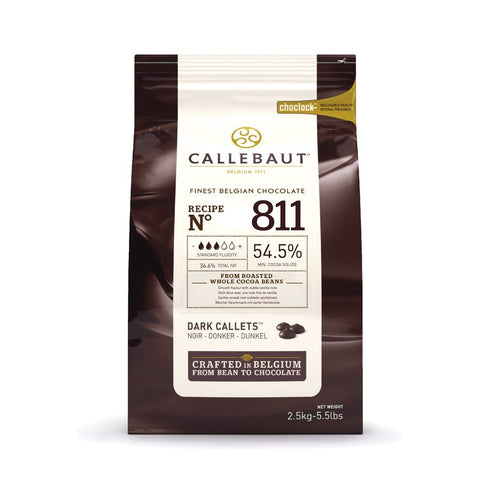 Belgian Callebaut Dark Chocolate 54.5% 10 kg - Bakeworld.ie