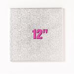 """12"""" Square Silver Cake Drums"""