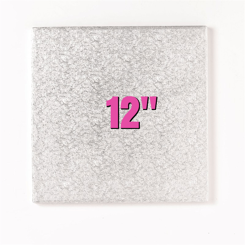 12'' Square Turn Edge Cake Cards (1.75mm) - Bakeworld.ie
