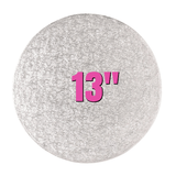 "13"" Round Silver Cake Drums - Bakeworld.ie"
