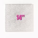 14'' Square Turn Edge Cake Cards (1.75mm) - Bakeworld.ie