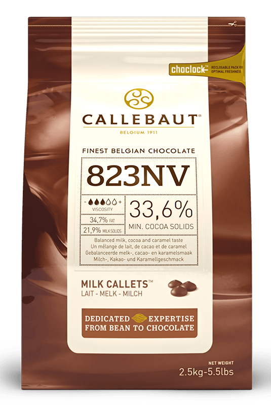 Belgian Callebaut Milk Chocolate 33% 10 kg - Bakeworld.ie