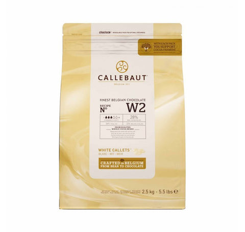 Belgian Callebaut White Chocolate 28% 10 kg - Bakeworld.ie