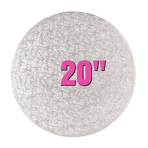 "20"" Round Silver Cake Drums - Bakeworld.ie"