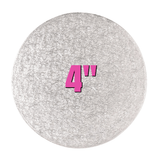 4'' Round Turn Edge Cake Cards (1.75mm) - Bakeworld.ie