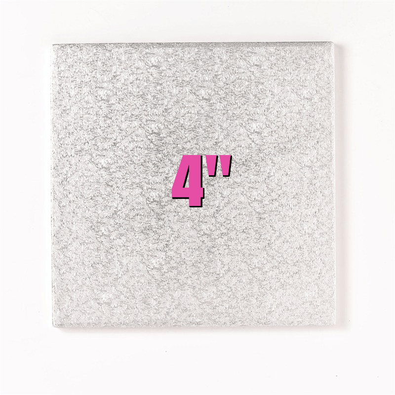 4'' Square Turn Edge Cake Cards (1.75mm) - Bakeworld.ie