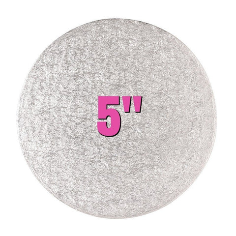 "5"" Round Silver Cake Drums - Bakeworld.ie"