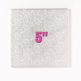 5'' Square Turn Edge Cake Cards (1.75mm) - Bakeworld.ie