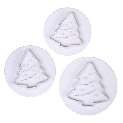 Cake Star Christmas Tree Plunger Cutters - 3 Set - Bakeworld.ie