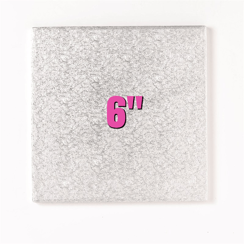 6'' Square Turn Edge Cake Cards (1.75mm) - Bakeworld.ie