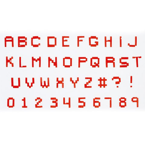 FMM - Pixel U/C Alphabet and Number Tappit
