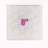 8'' Square Turn Edge Cake Cards (1.75mm) - Bakeworld.ie