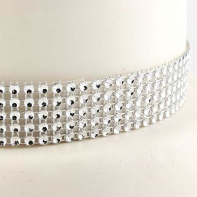 Silver Diamante Trim 25mm 1 Metre
