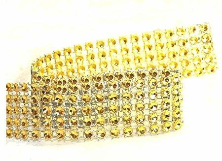 Gold Diamante Trim 25mm 1 Metre