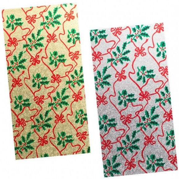 8'' x 4'' (203 x 101mm) Christmas Single Thick Rectangle Cake Card