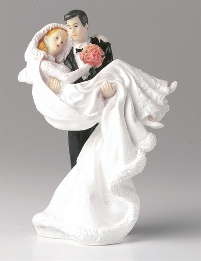 Figurine -Bride - Groom Carrying Bride