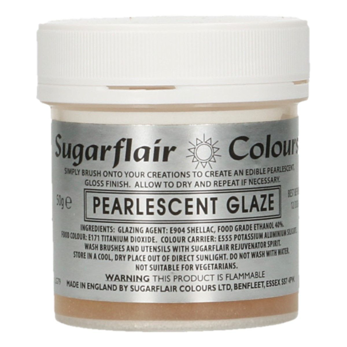 Sugarflair Pearlescent Glaze 50g
