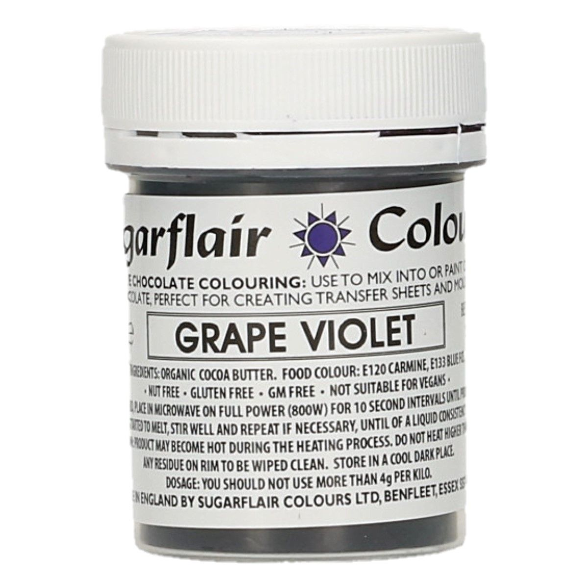 Sugarflair Chocolate Colour Grape Violet 35g