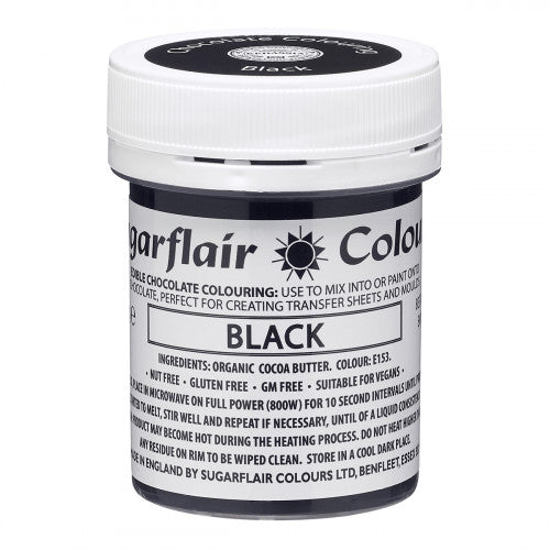 Sugarflair Chocolate Colouring Paint Black 35g