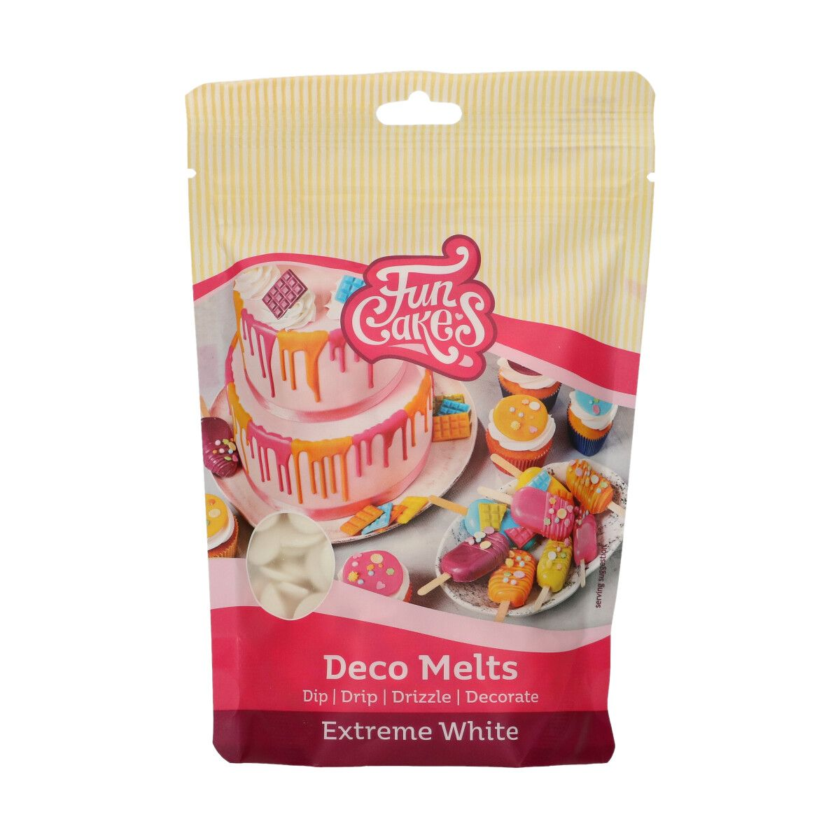 FunCakes Deco Melts -Extreme White- 250g