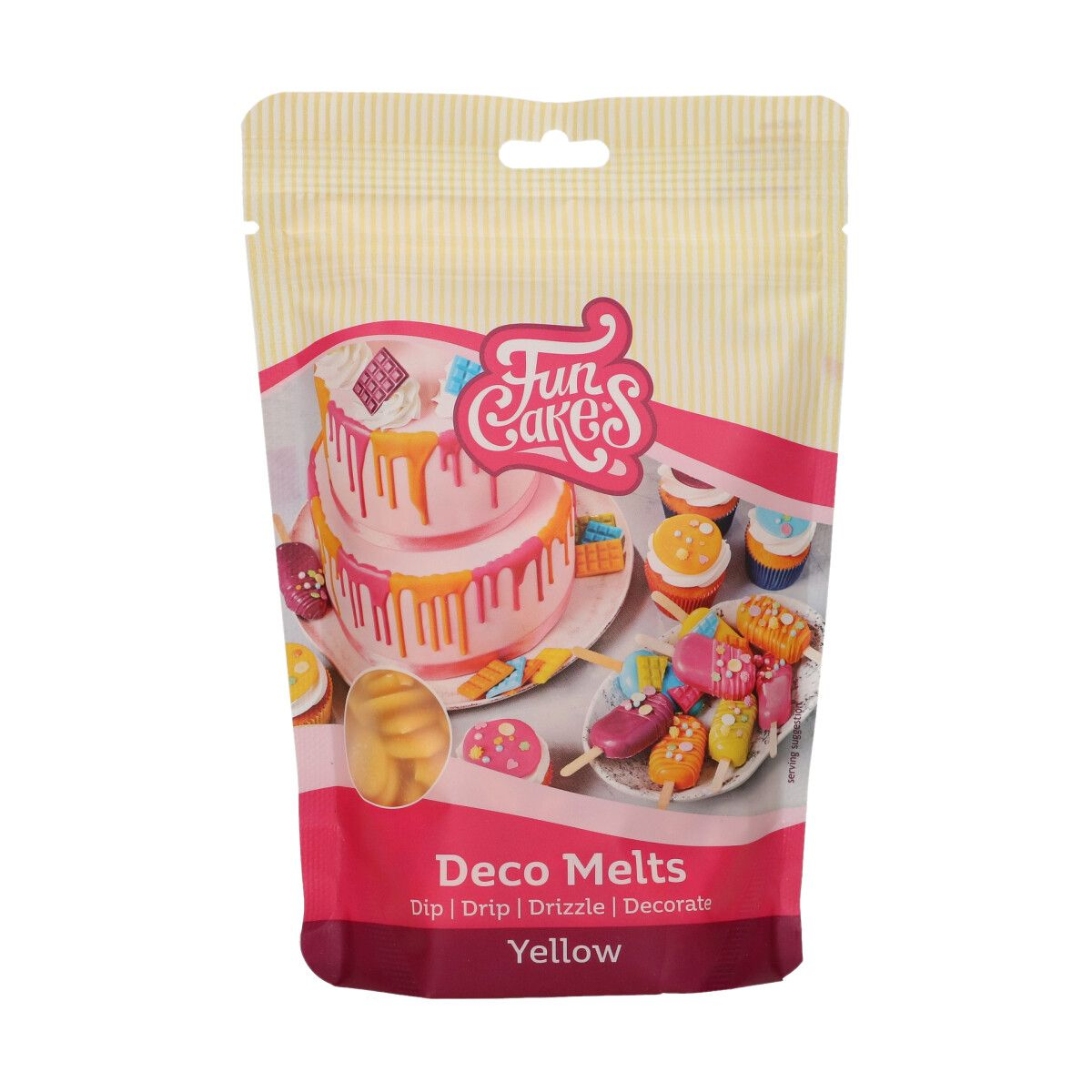 FunCakes Deco Melts -Yellow- 250g