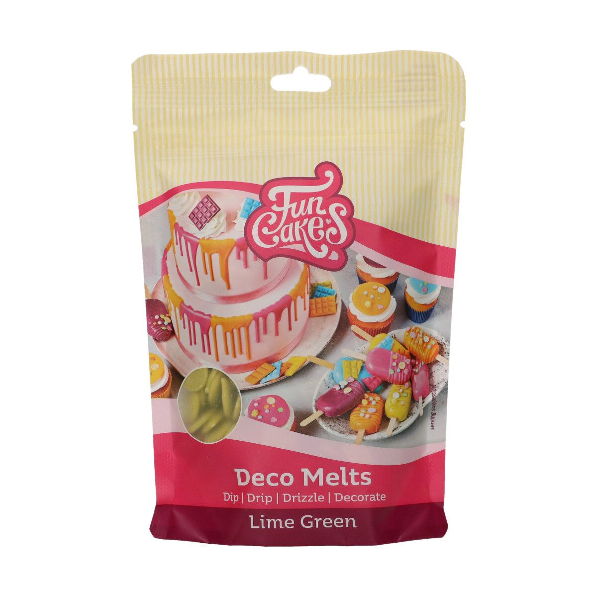 FunCakes Deco Melts -Lime Green- 250g