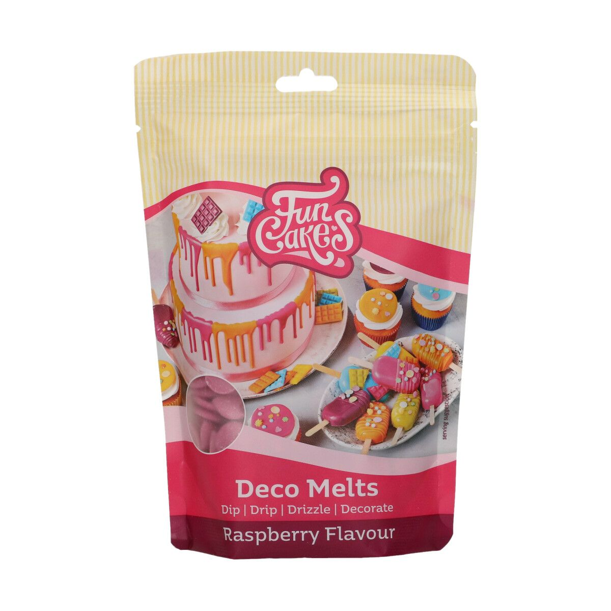 FunCakes Deco Melts - Raspberry Flavour- 250g