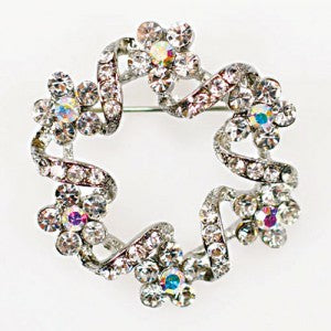 Diamante Brooch 40mm
