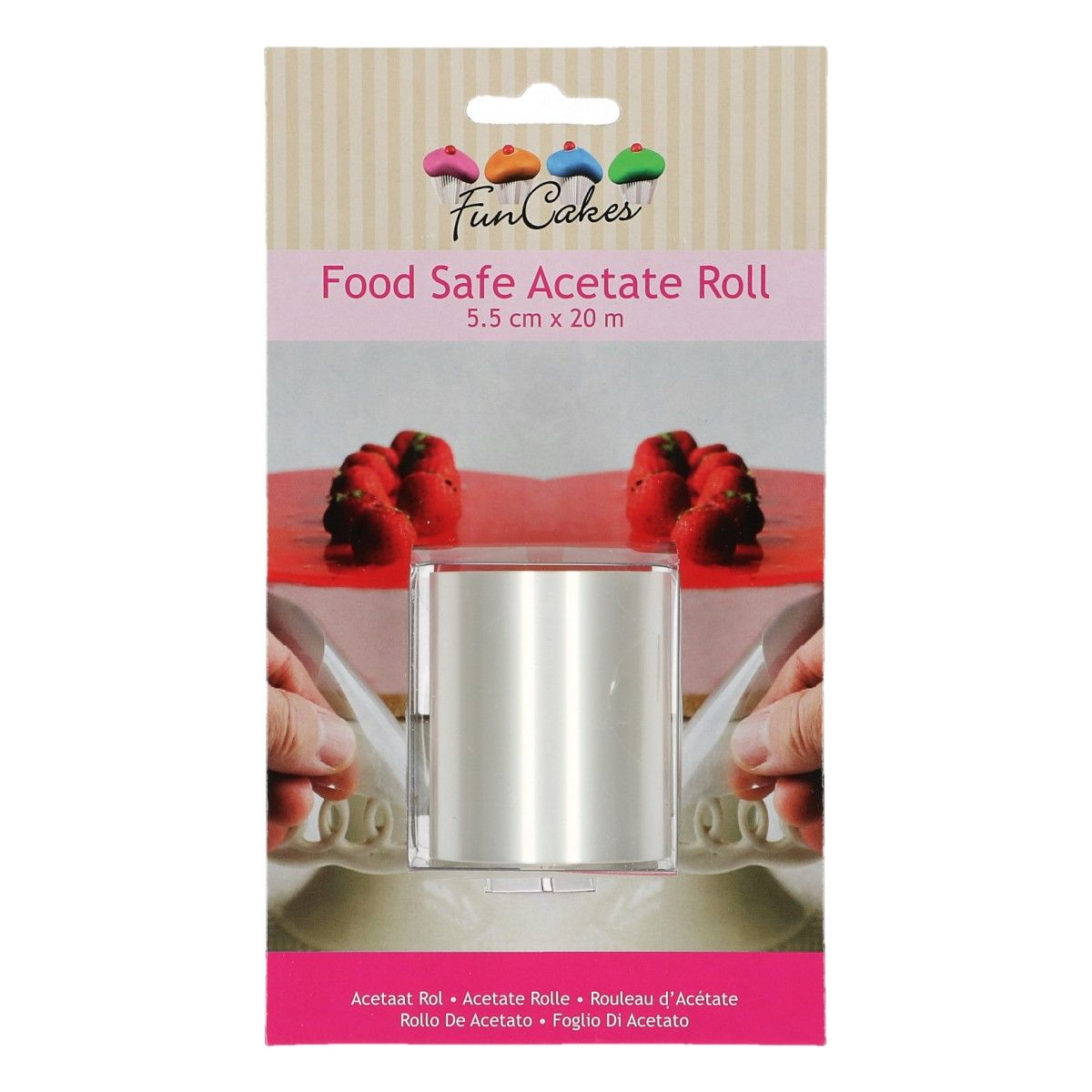 "FunCakes Acetate Roll -5.5cm (2.2"") x 20mtrs"