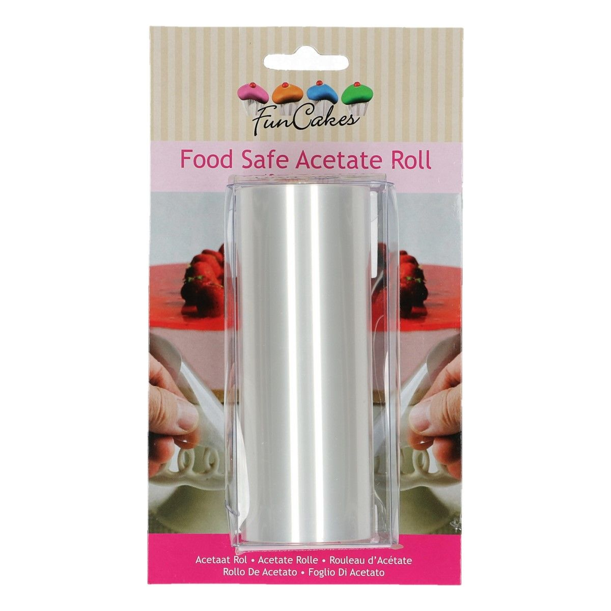 "FunCakes Acetate Roll -12cm (4.75"") x 20mtrs"