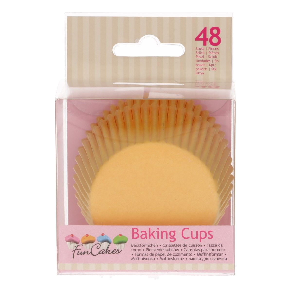 FunCakes Baking Cups -Yellow- pk/48